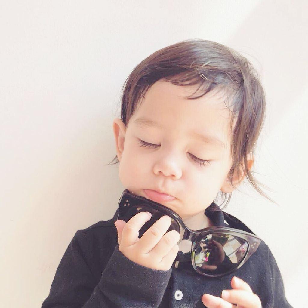 可爱混血婴儿萌图片