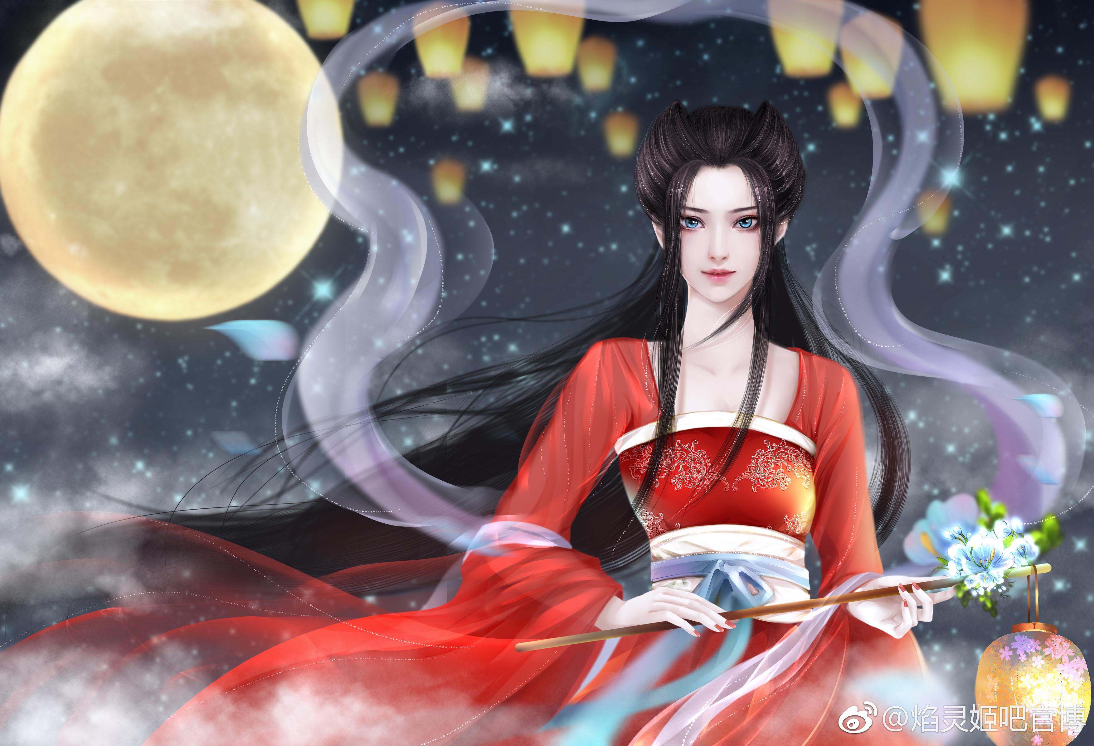 焰灵姬中秋壁纸——胧纱