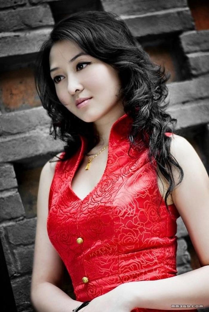 红色旗袍摄影-画存青春