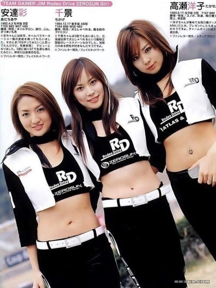日本GT赛车名模集体照