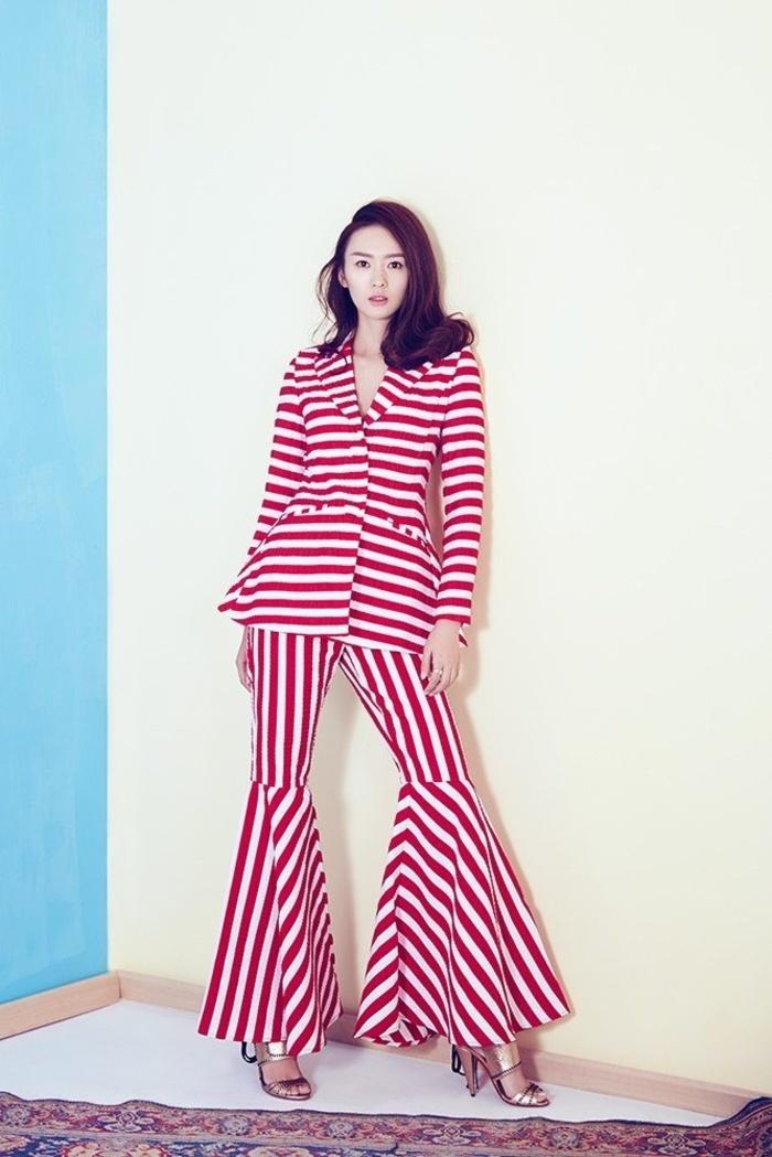 清新长裙美女童瑶最新时尚封面气质图片