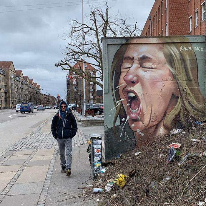 全球新冠肺炎疫情下世界各地的街头涂鸦艺术插图(13)