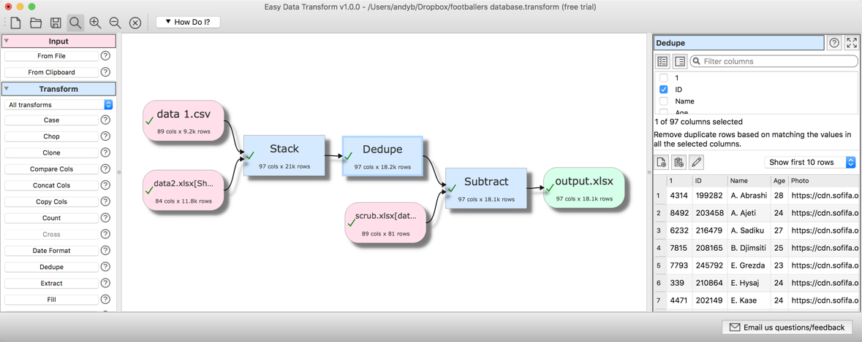 Easy Data Transform 1.15.0 Mac 破解版 Excel和CSV编程文件转换工具-麦氪搜(iMacso.com)