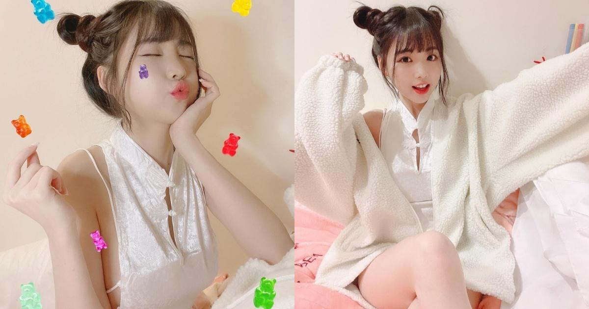 清新可爱的「软萌系正妹」赵兔兔,性感旗袍小露,粉丝看到受不了!