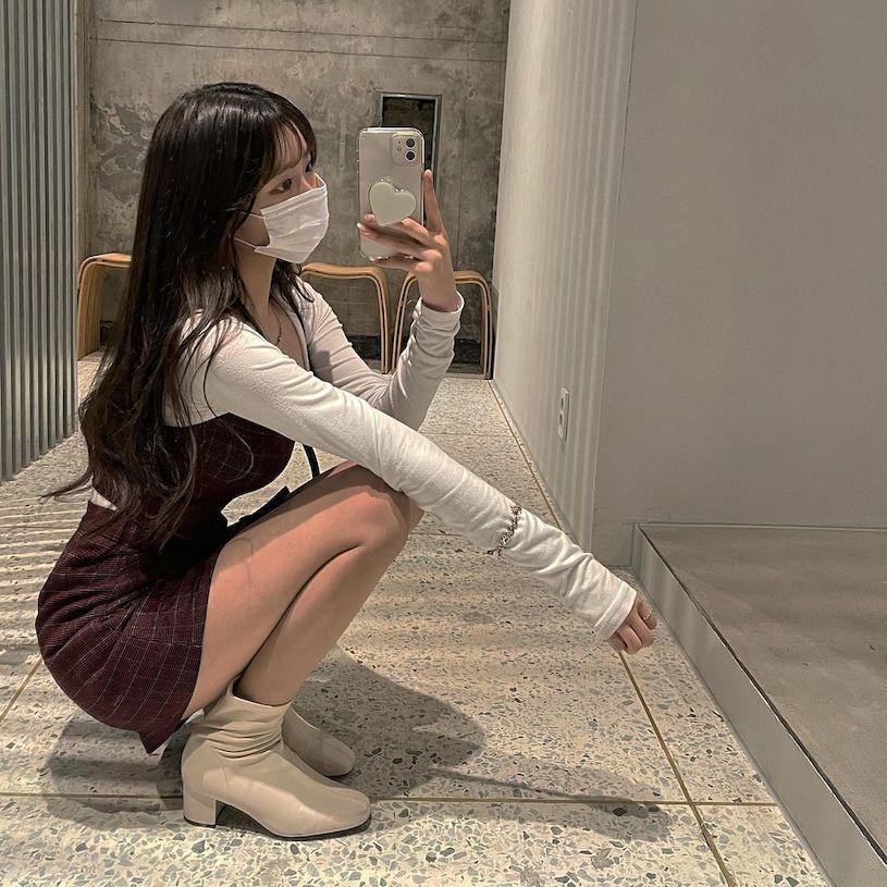 IG高校美女「童颜」好极品,「放学后的穿搭」让人恋爱. 养眼图片 第7张