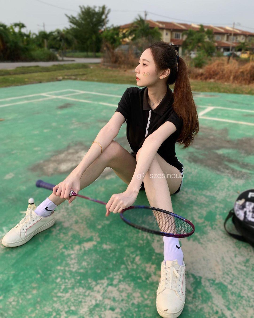 马来西亚的网红美女羽球系正妹思欣 超甜 网络美女 第4张