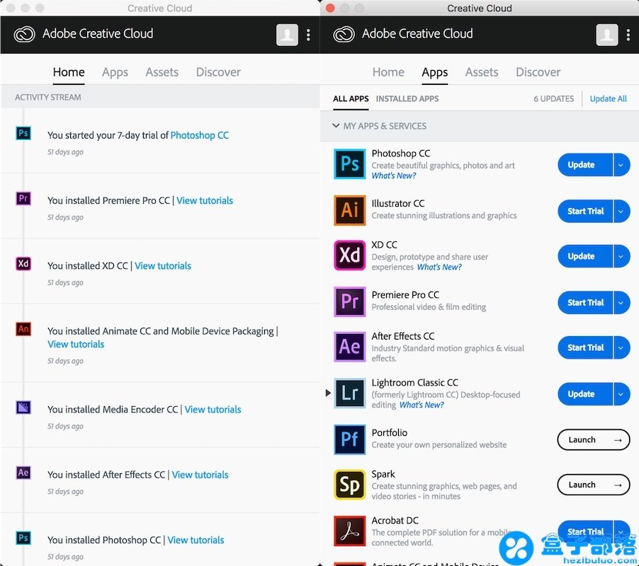 Adobe Creative Cloud - 全系列 Adobe 产品,支持Windows和Mac