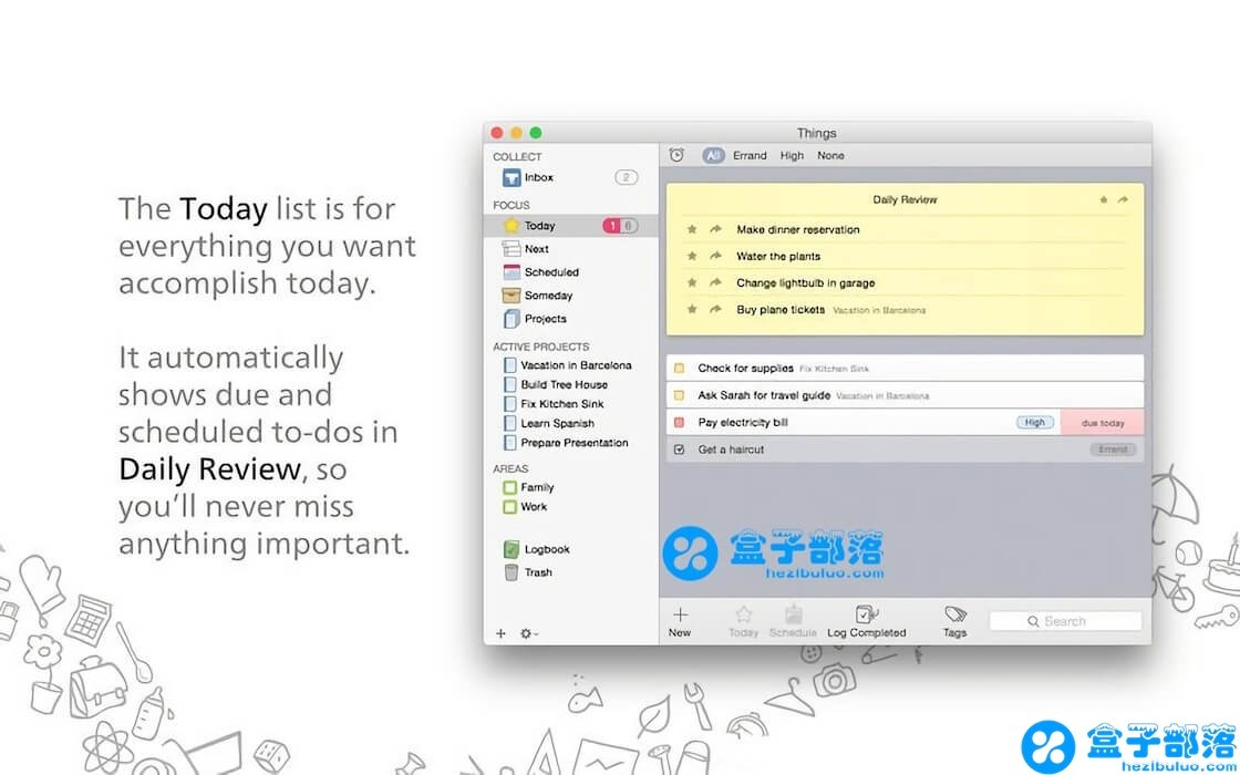 Things v3.8 for Mac 一款优秀的高效率 GTD 任务管理工具