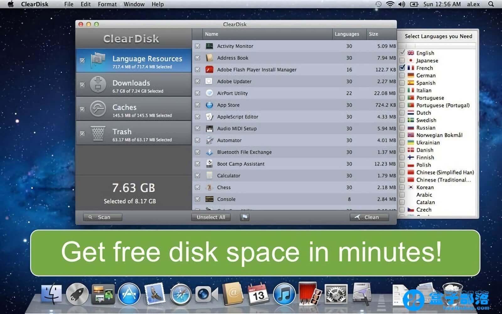 ClearDisk 2.10 一款 macOS 平台的磁盘清理系统优化工具