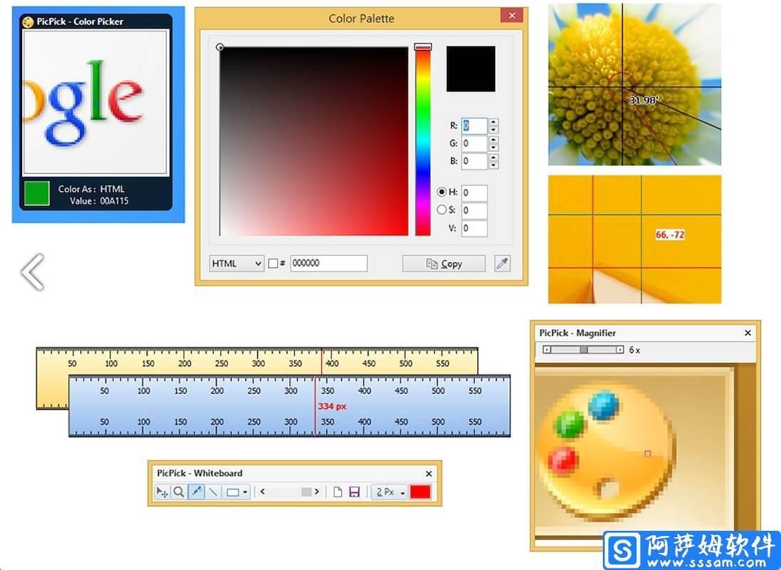 PicPick v5.0.4 功能全面的免费截图工具