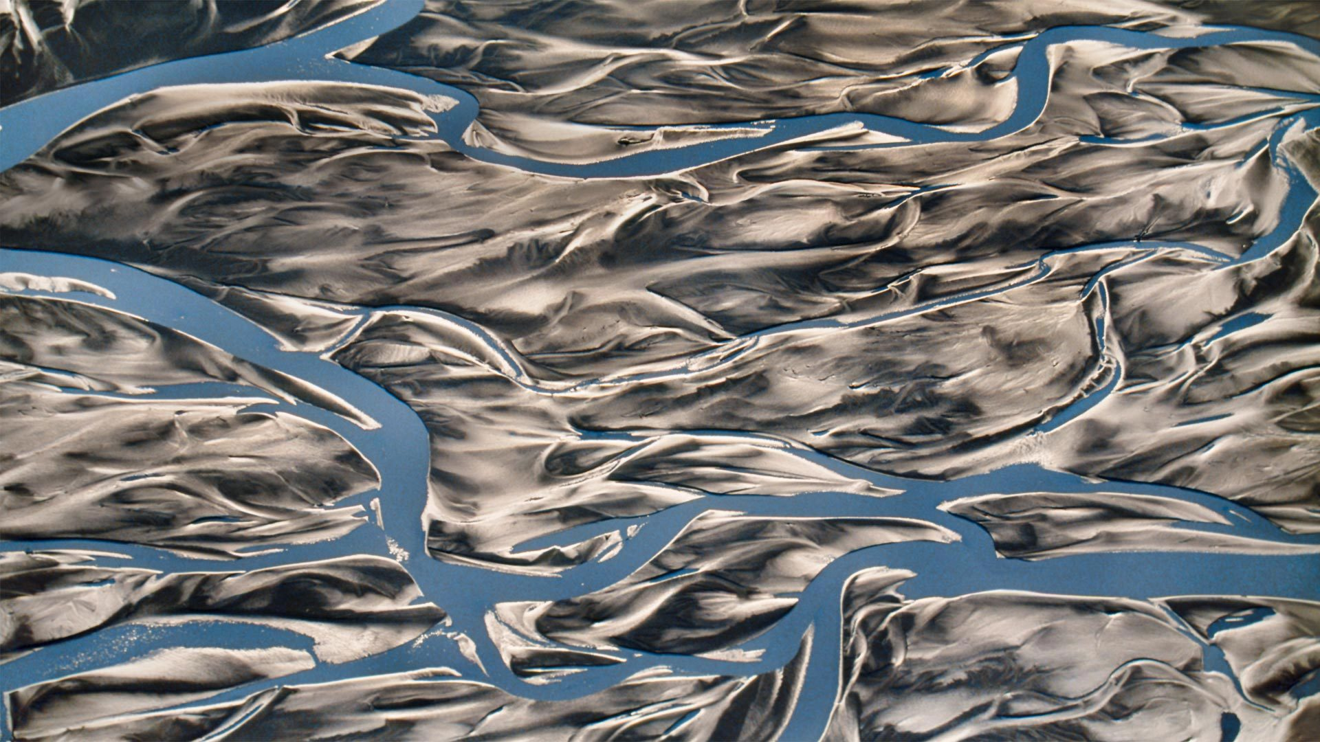 圣伊莱亚斯国家公园中的铜河三角洲