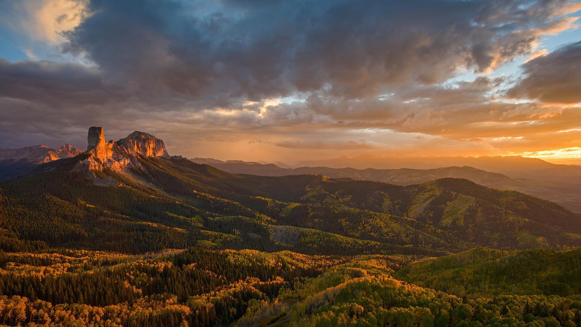 烟囱岩和安肯帕格里国家森林