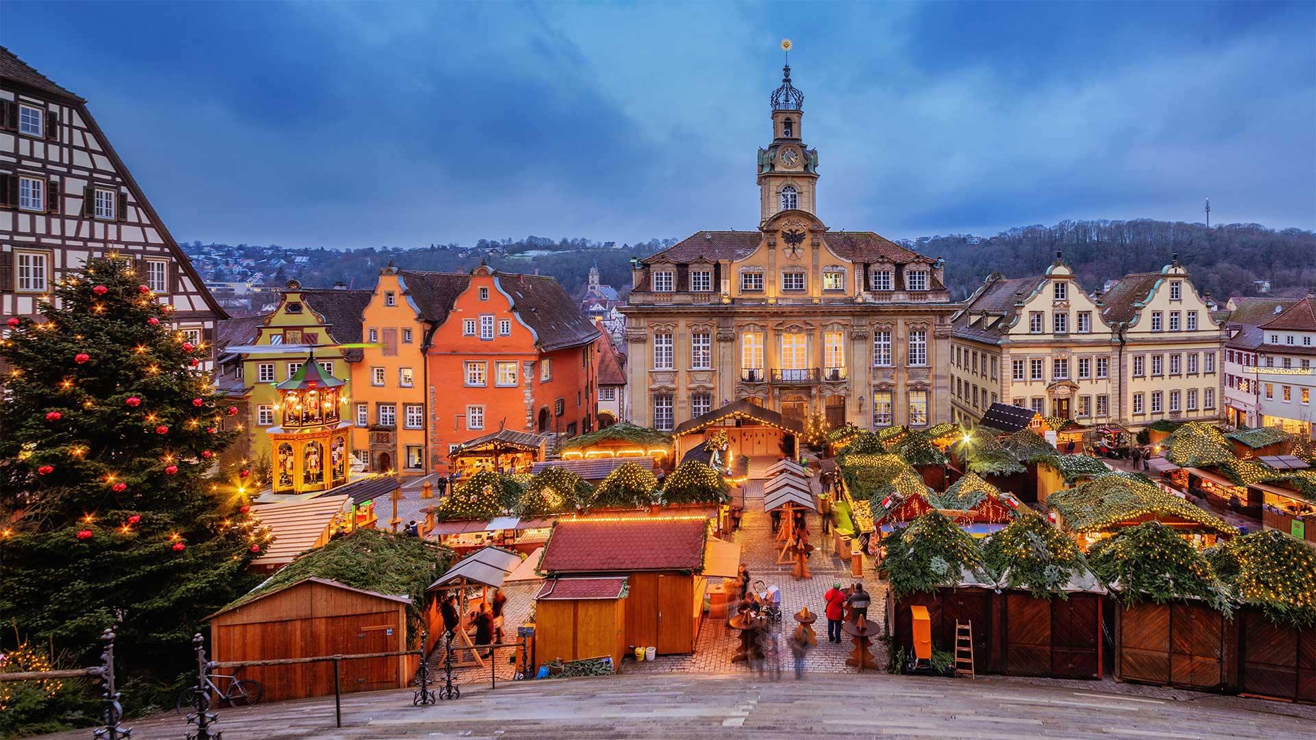 一年一度的施瓦本哈尔圣诞市集施瓦本哈尔圣诞市集