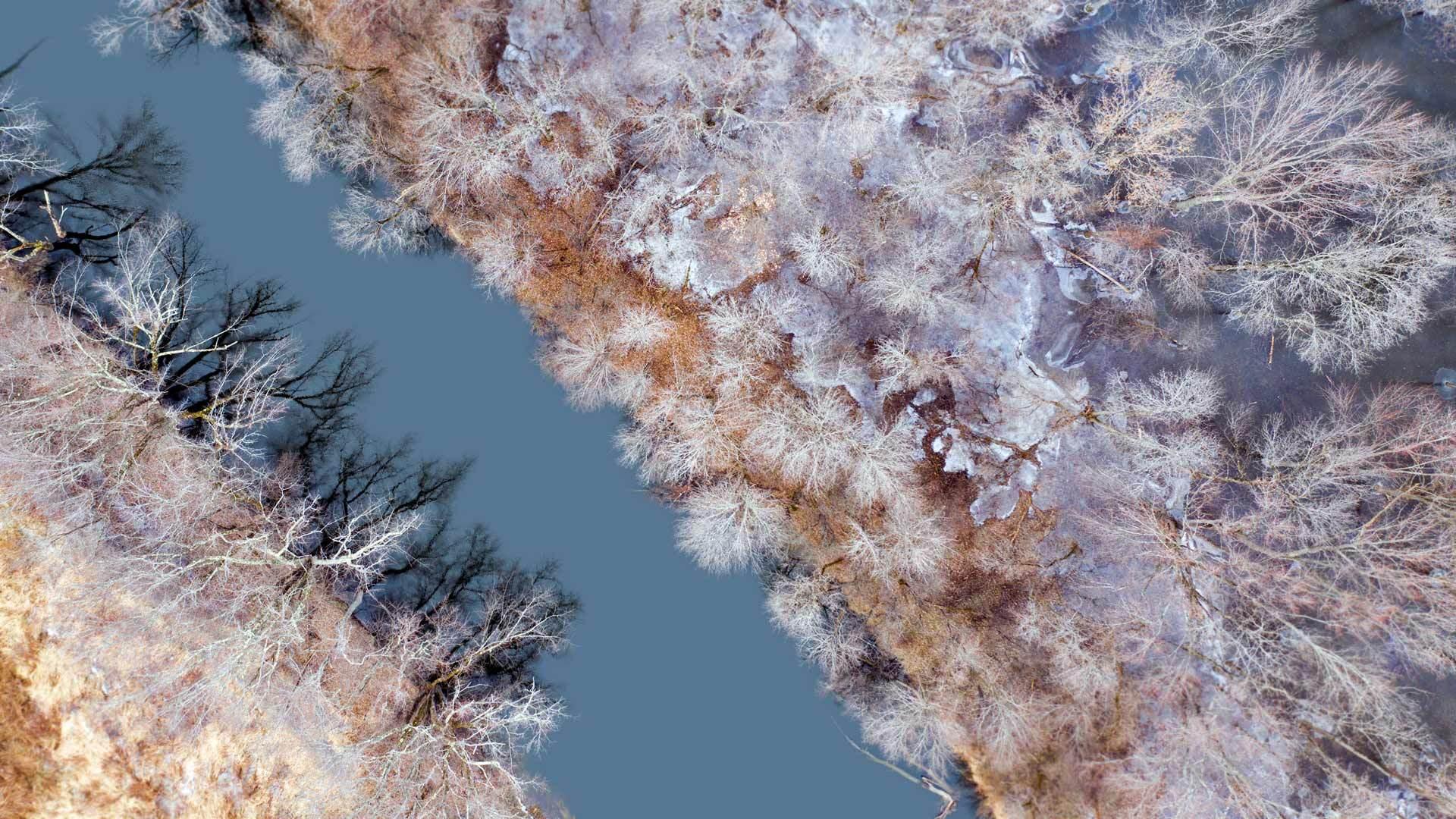 冬天的水獭溪水獭溪