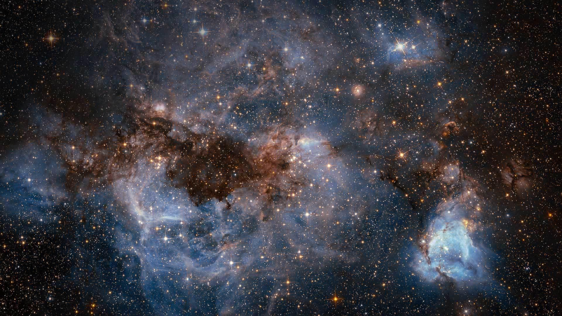 由哈勃太空望远镜拍摄的大麦哲伦星云大麦哲伦星云