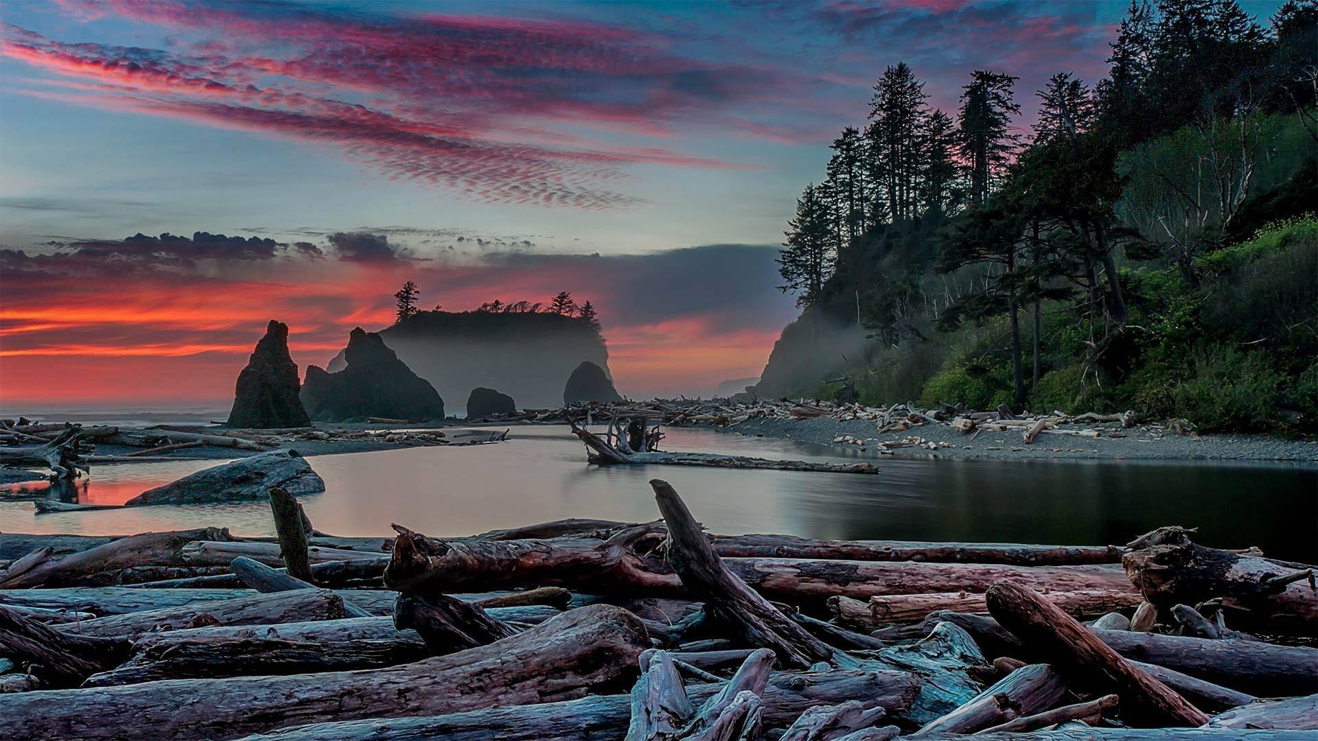 红宝石海滩的日落红宝石海滩