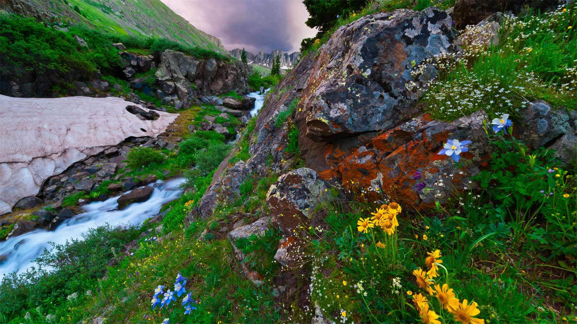 位于科罗拉多南部圣胡安山脉的美国盆地圣胡安山脉