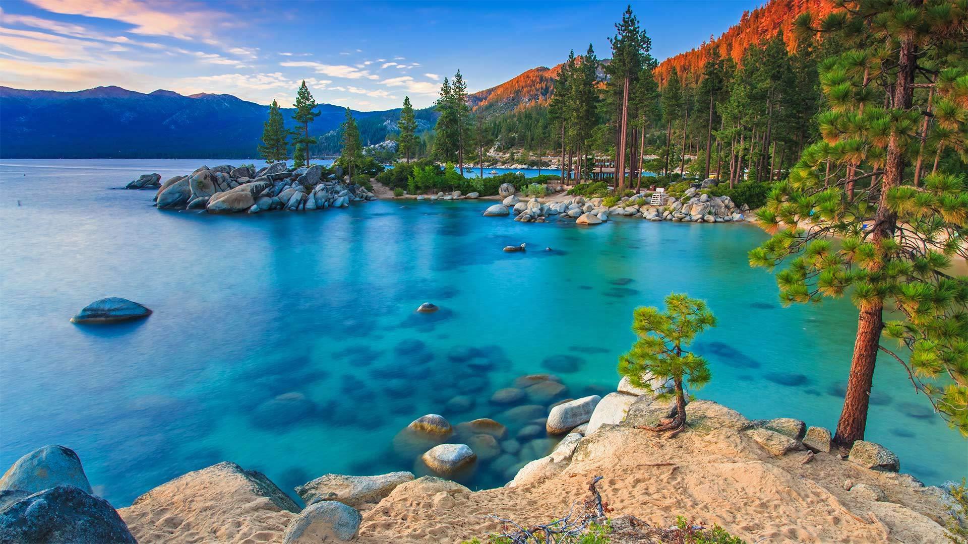 塔霍湖国家公园中的沙港塔霍湖