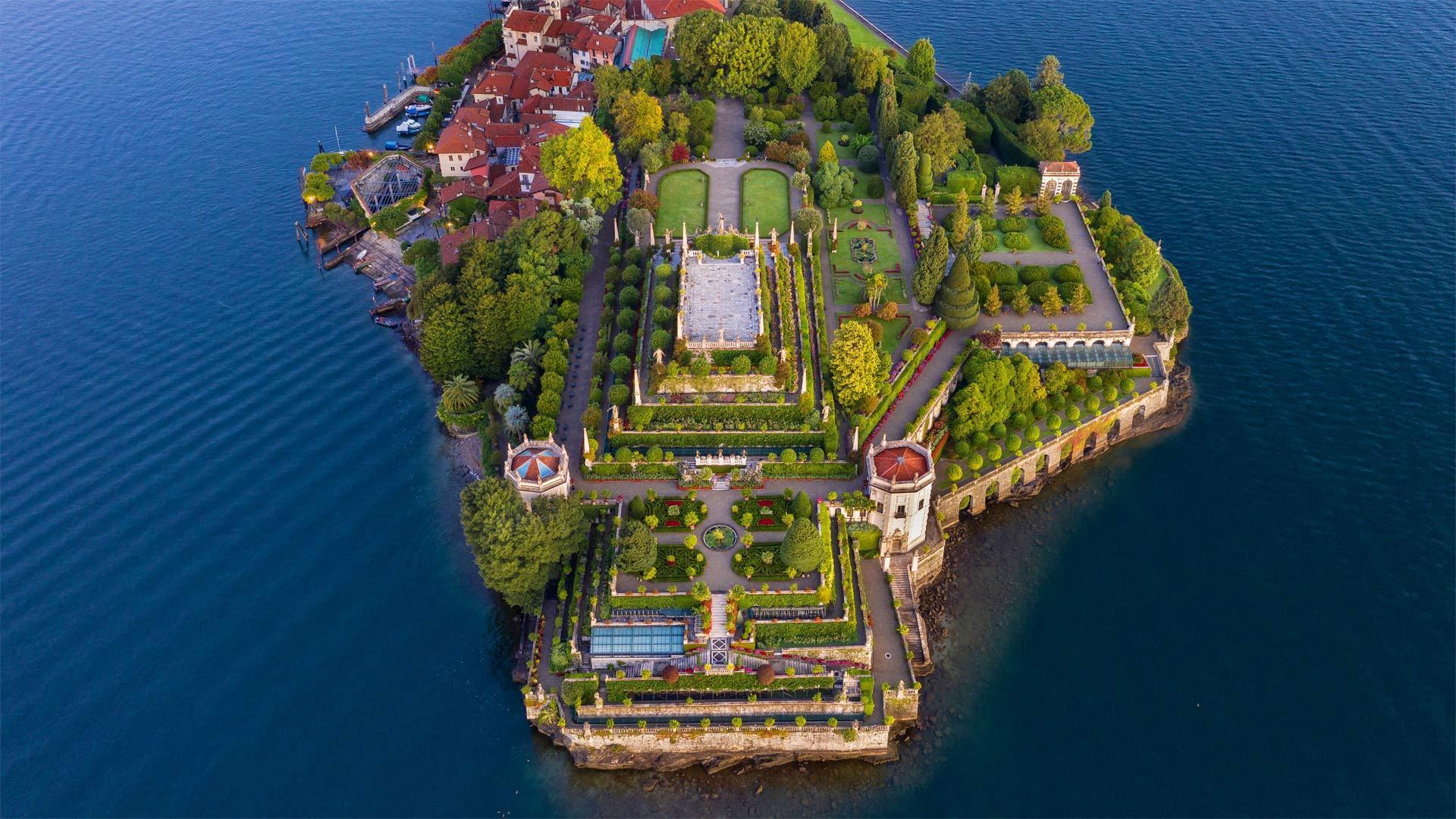 马焦雷湖畔的贝拉岛贝拉岛