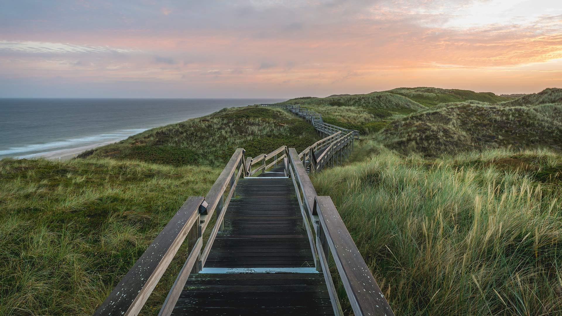 通往海滩的木板路叙尔特岛