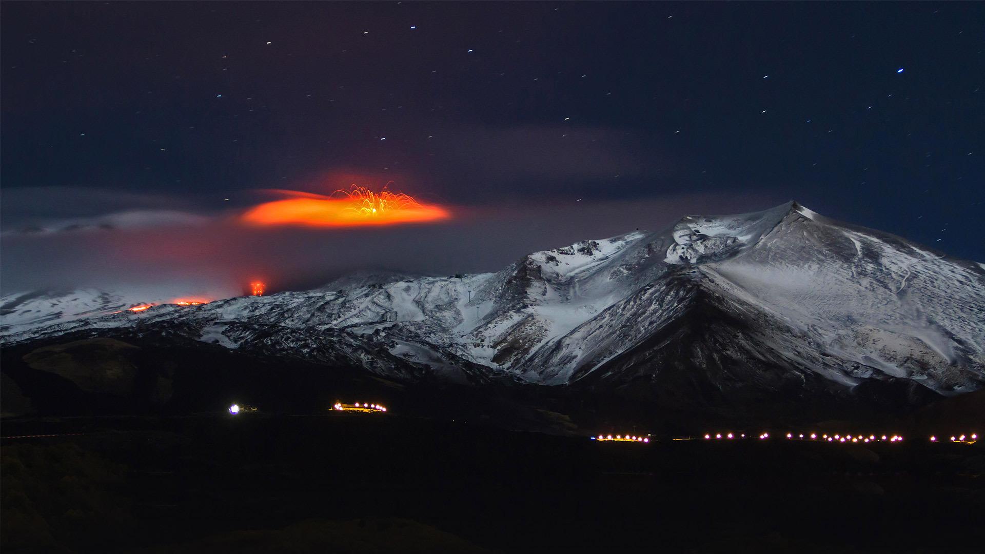 2013年正在喷发的埃特纳火山埃特纳火山