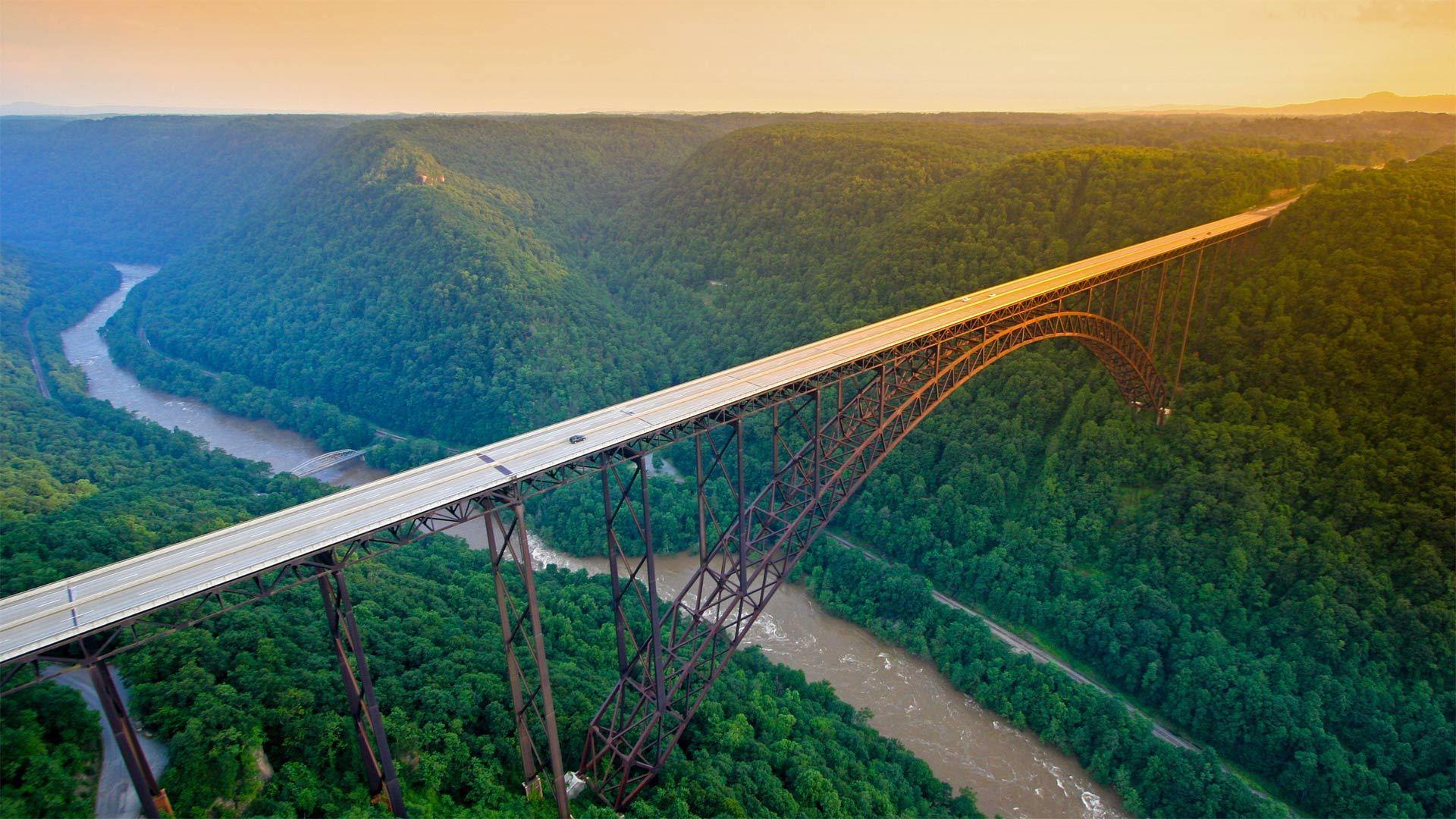 新河峡国家公园中的新河峡大桥新河峡大桥