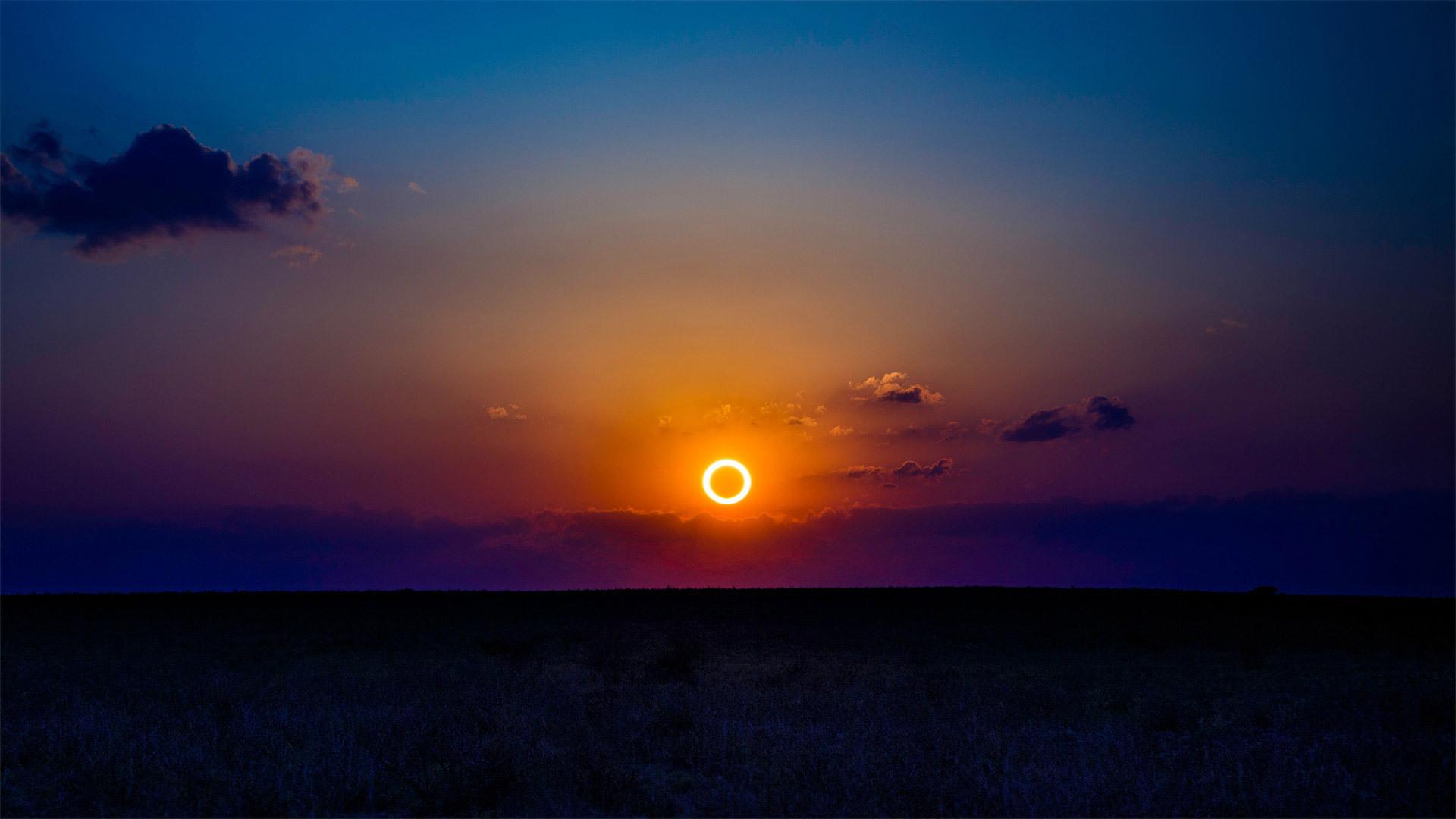 2012年5月20日新墨西哥上空的日环食 日环食