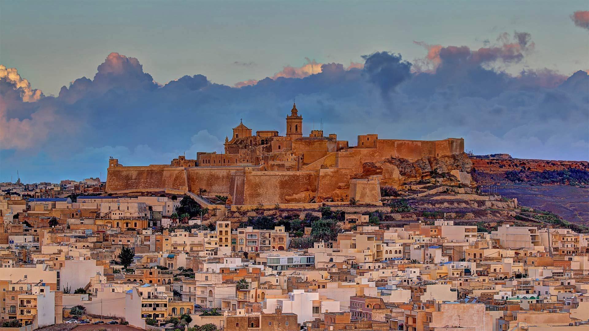 马耳他戈佐岛上的Cittadella城堡马耳他戈佐岛