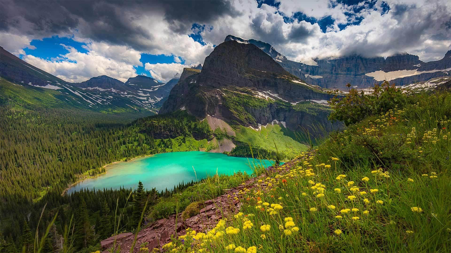 冰川国家公园格林内尔湖冰川国家公园