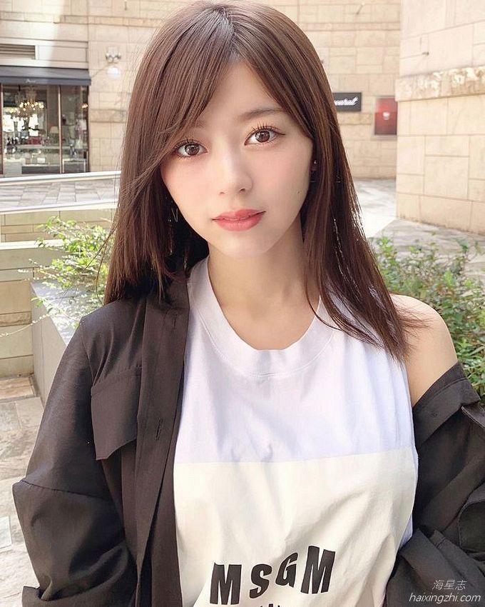 21岁日本模特石崎日梨,天使面孔,靓丽佳人_17