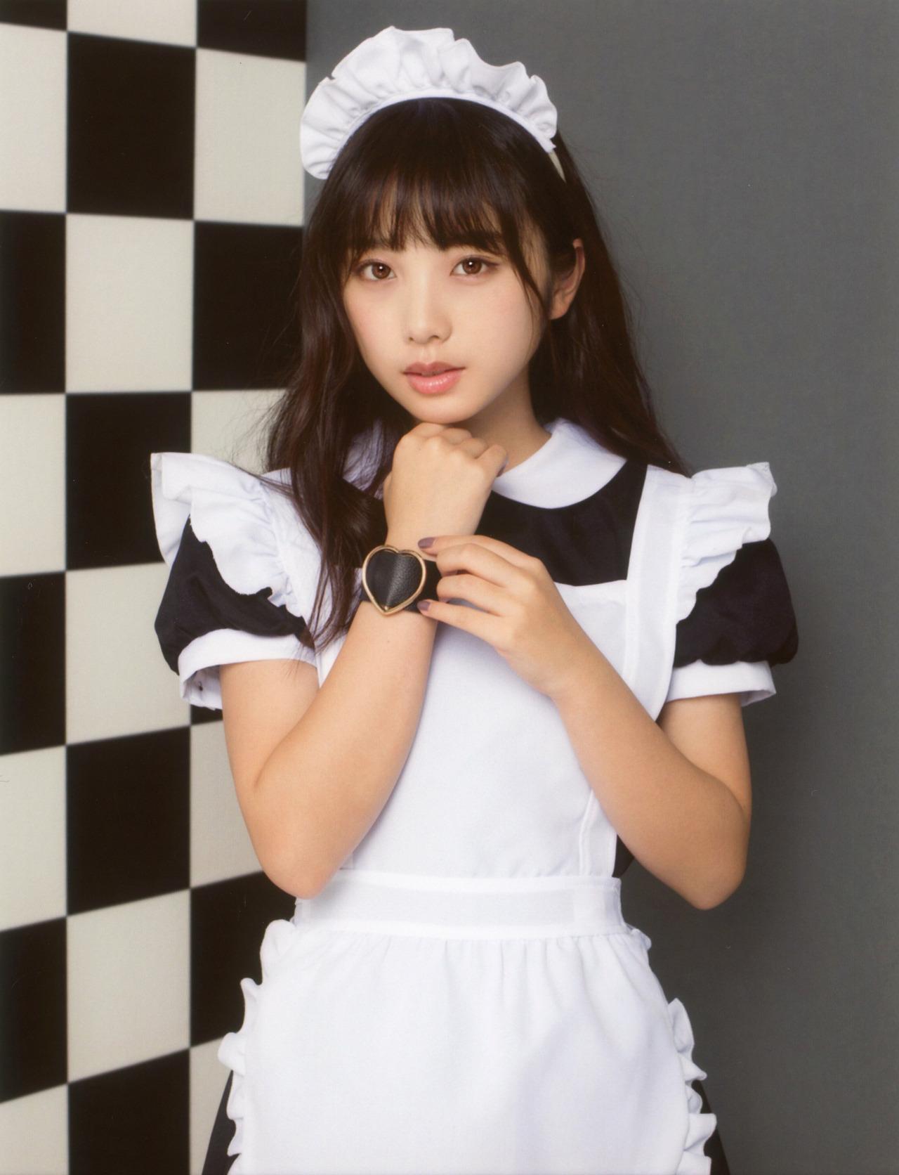 00年生日本小姐姐「与田祐希」女仆装 美呆了 第4张