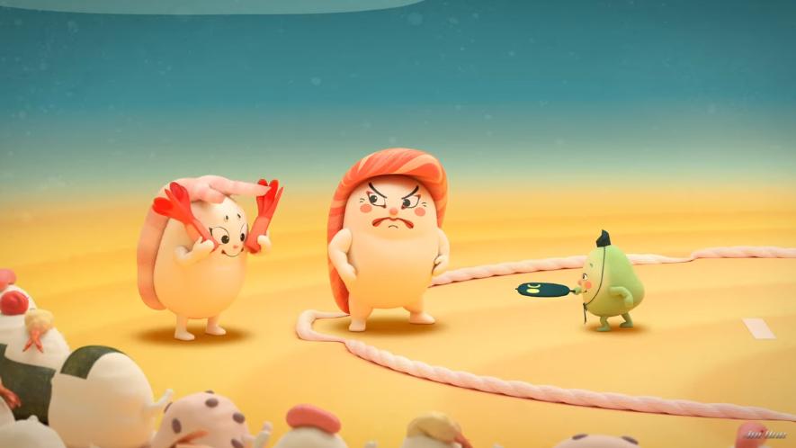 动画《寿司大相扑》将寿司和相扑有机结合在一起 (3)