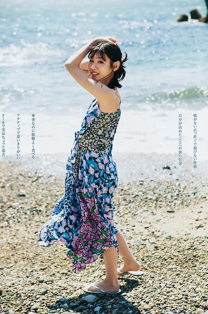 甜美怡人疗愈气息十足的纯爱系演员白石圣用自己强大的空灵气场来拍摄写真作品 (22)