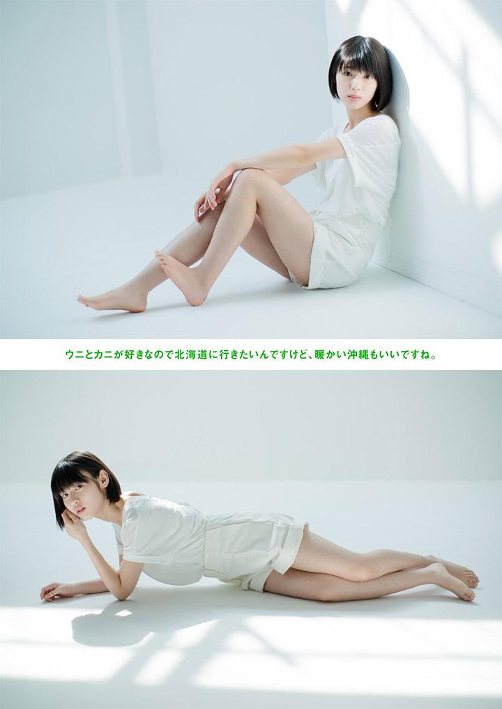 甜美怡人疗愈气息十足的纯爱系演员白石圣用自己强大的空灵气场来拍摄写真作品 (46)
