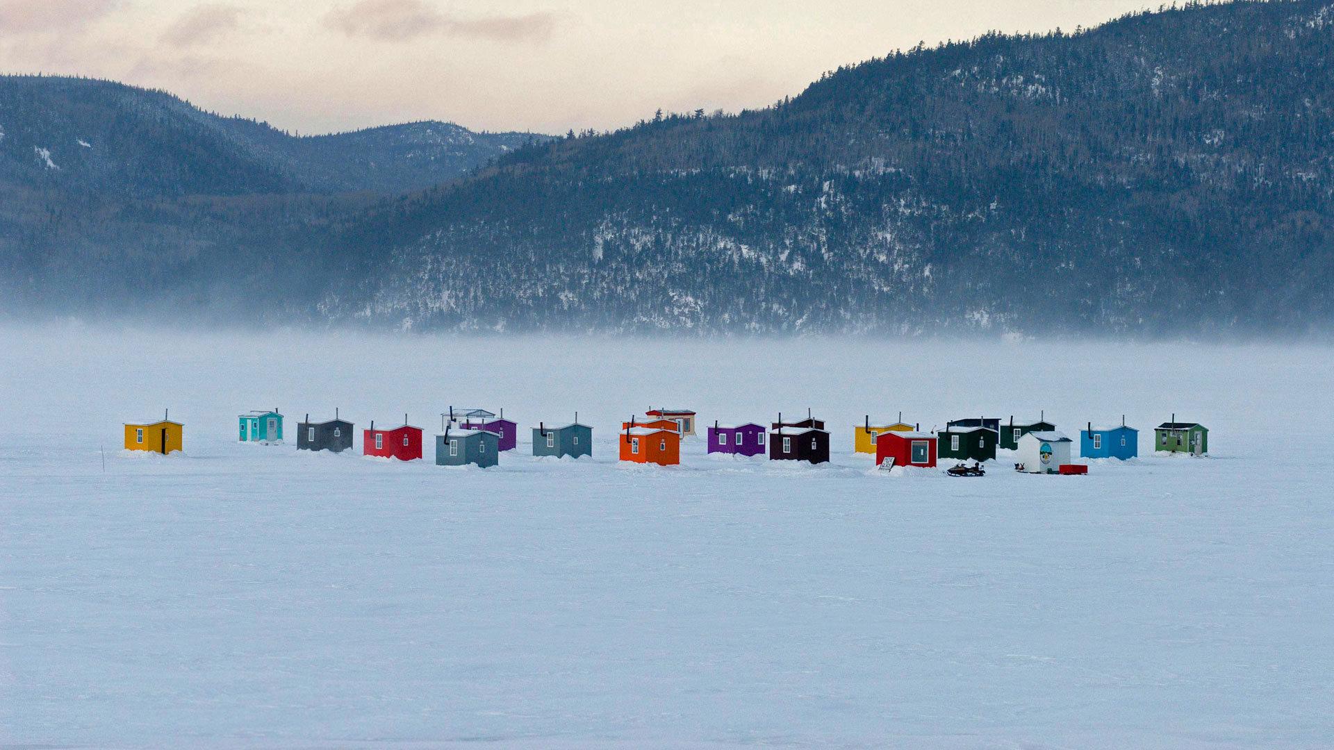 冰天雪地里的绚丽色彩