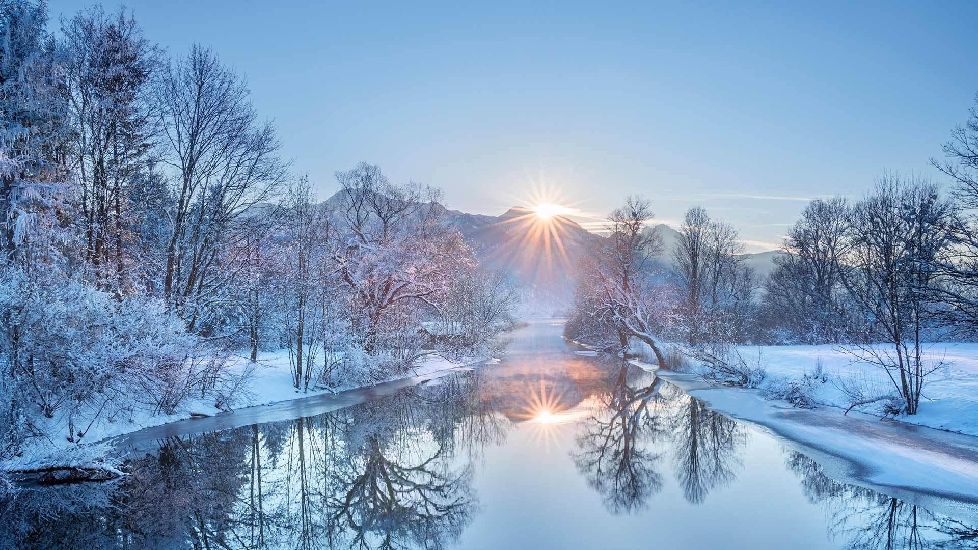 山与河的绝美搭配