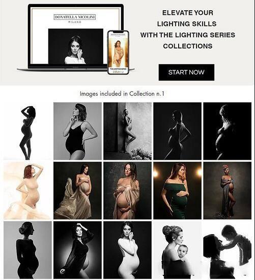 摄影教程_Donatella Nicolini 30种孕妇宝妈私房摄影布光照明图灯光系列套装 摄影教程 _预览图1