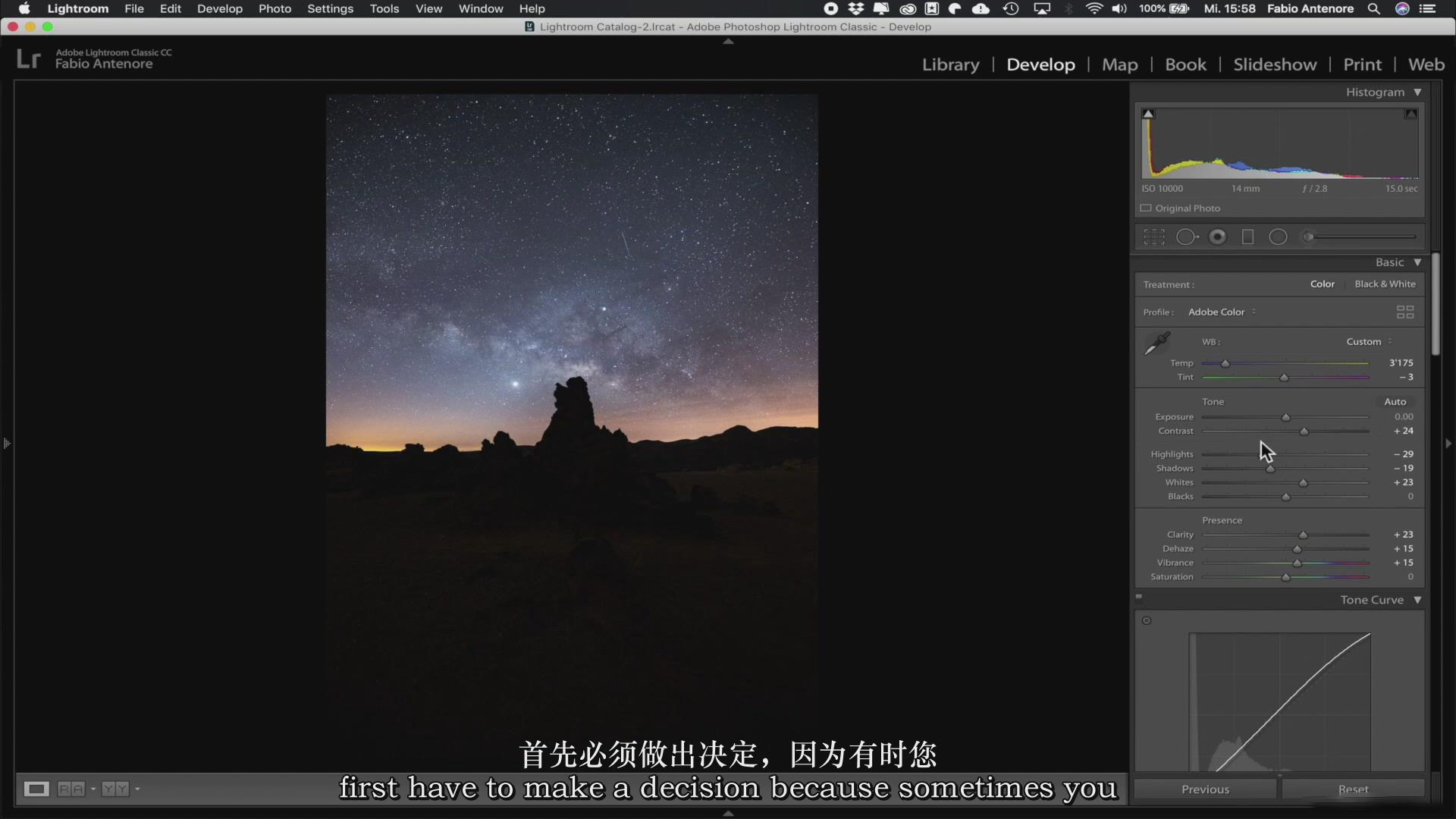 摄影教程_Fabio Antenore-超级真实银河系夜景风光摄影及后期附扩展素材-中英字幕 摄影教程 _预览图21