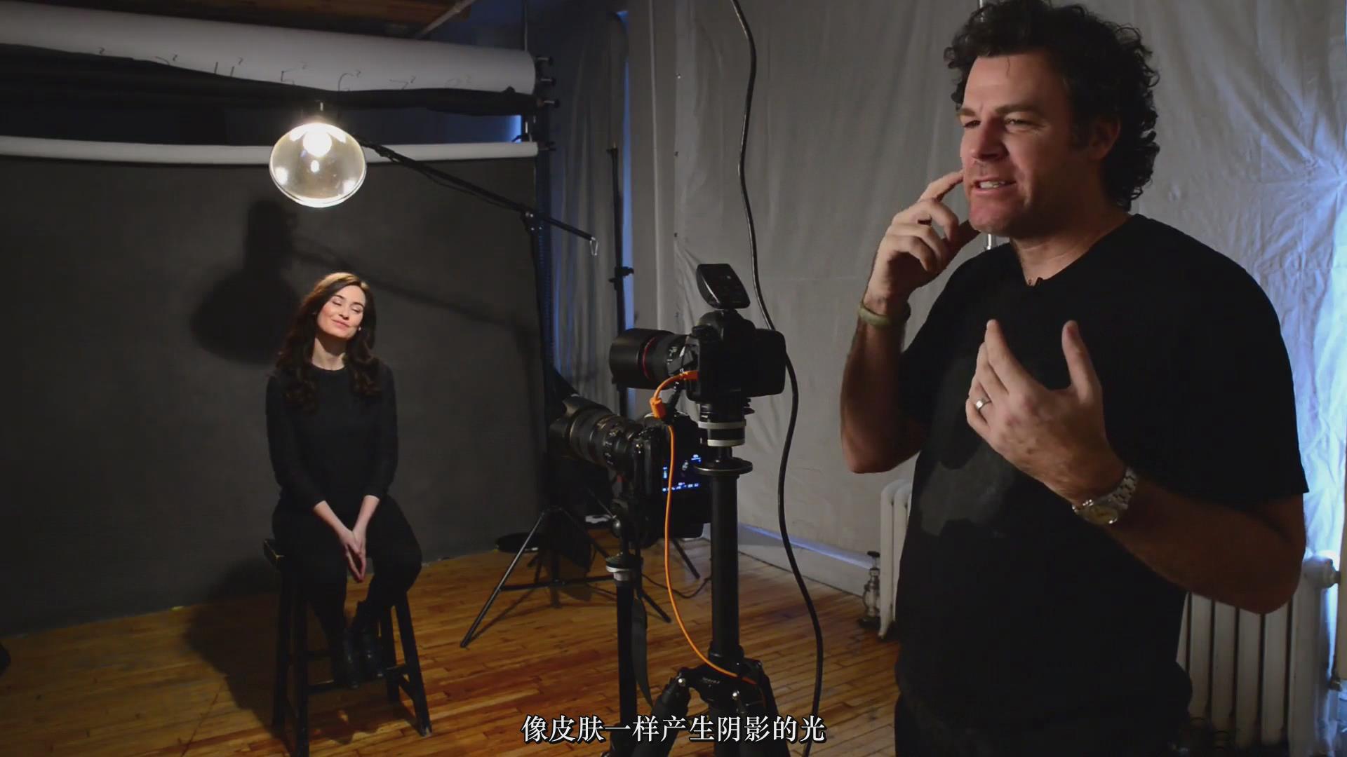 摄影教程_Fstoppers-彼得·赫利(Peter Hurley)完美头像人像面部布光教程-中文字幕 摄影教程 _预览图6