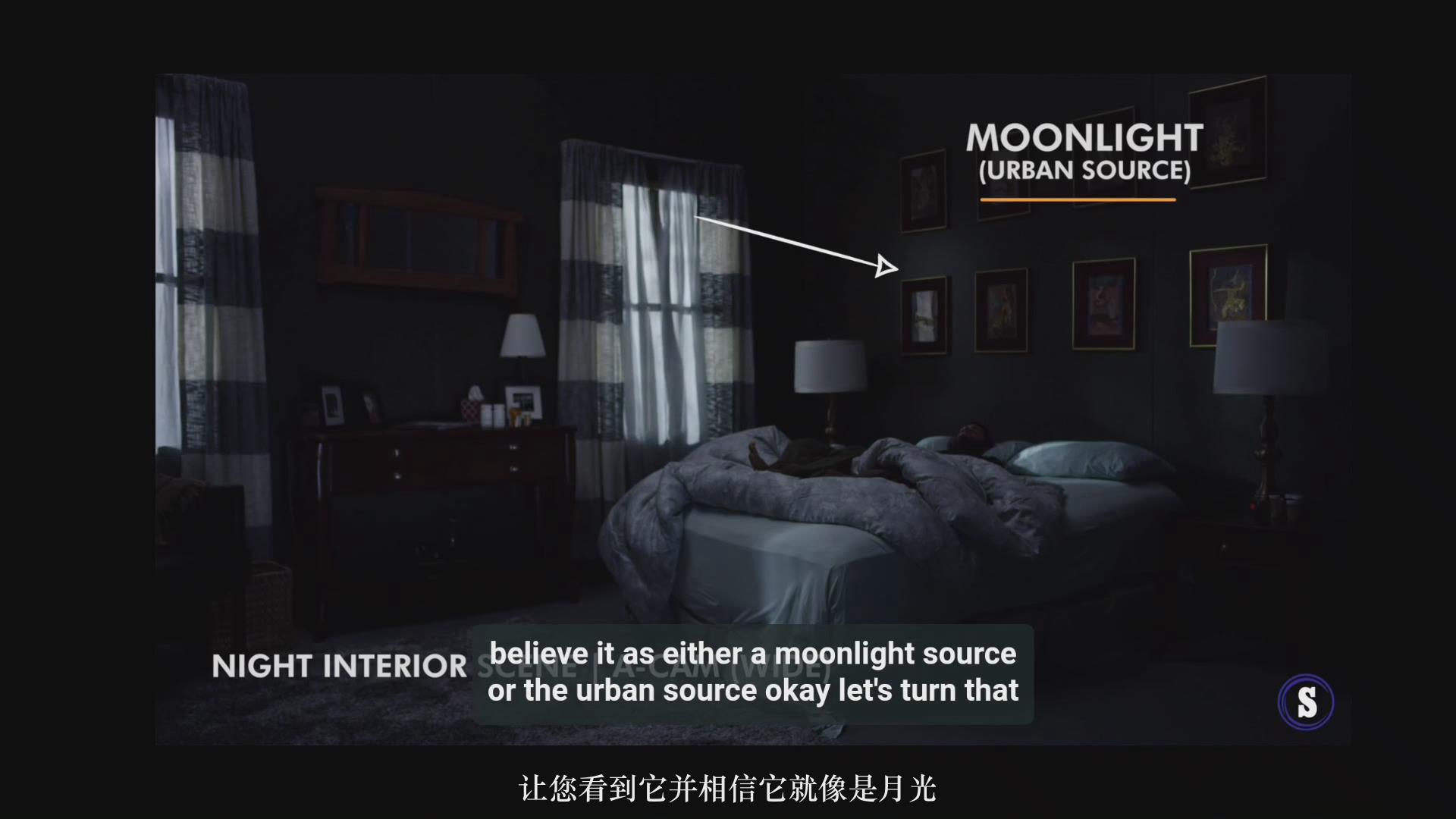 摄影教程_Hurlbut Academy–如何为电影在夜景室内场景布光营造自然外观-中文字幕 摄影教程 _预览图4