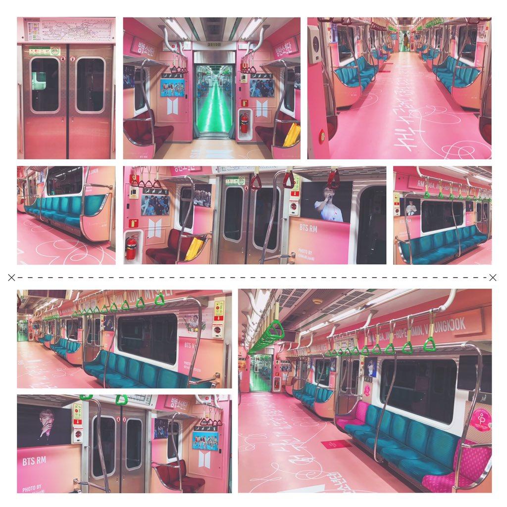 防弹少年团粉丝大手笔包下地铁车厢为成员庆生,引发韩国网友热议插图3