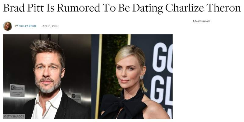 英国媒体爆料布拉德·皮特与查理兹·塞隆热恋?美国媒体辟谣:假的插图1