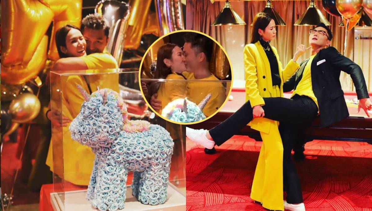 TVB男星杨明女友生日,两人疯狂秀恩爱!网友:赶快结婚吧!插图