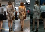 街拍:去电影院碰到的两美腿妹子,貌似被土豪接