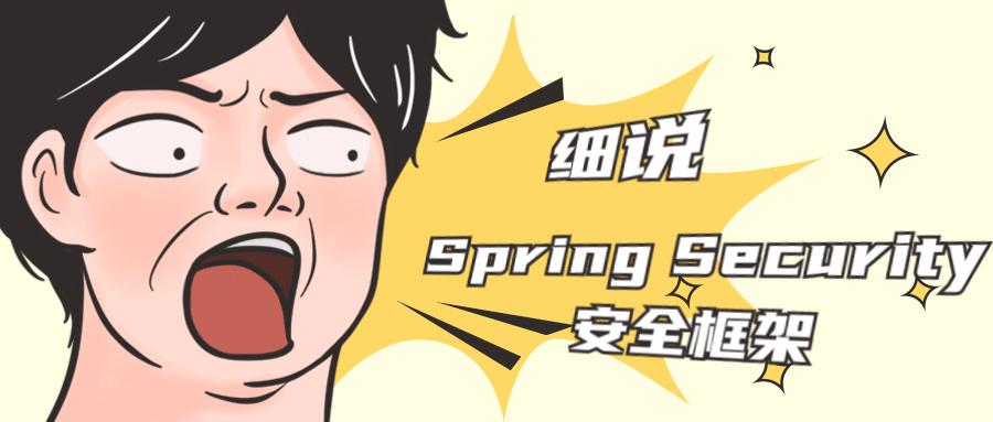 细说 Spring Security 安全框架