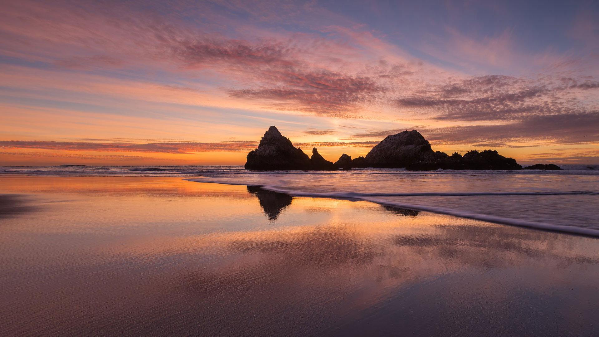 海岸边的极致美景