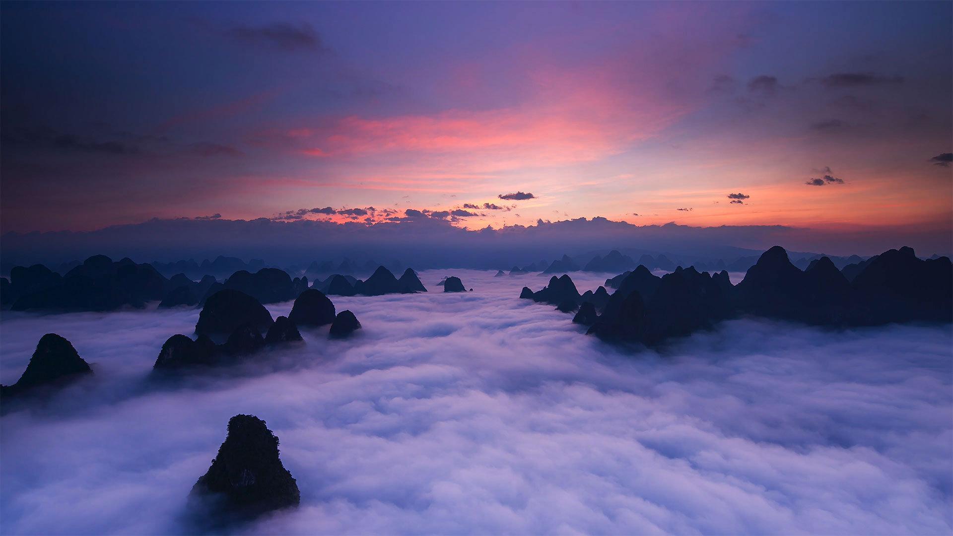 天然巧成 云雾萦绕黄山