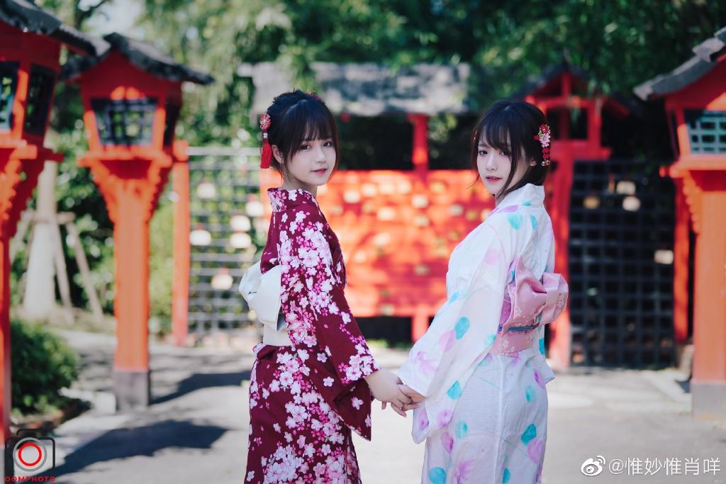 上海ChinaJoy2020最美双胞胎姐妹孙惟妙、孙惟肖 网友:这是不一样的烟火!-觅爱图