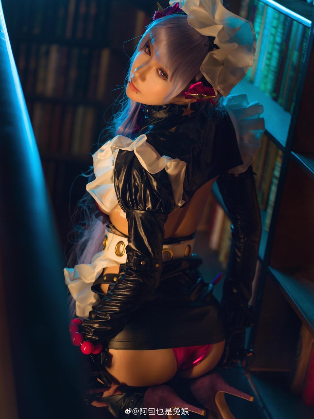 @阿包也是兔娘 #fate 图片上的黑影真打错地方了吧!-觅爱图