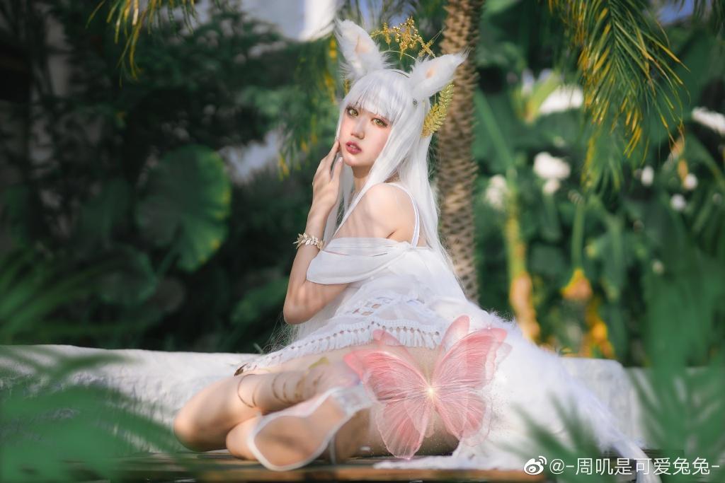 COS作品一同看@-周叽是心爱兔兔 明日方舟白金COS插图3